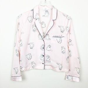 F21 | Blush Pink Fluffy Cat Kitty Pajama Top